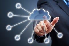 Έννοια υπολογισμού σύννεφων Στοκ φωτογραφίες με δικαίωμα ελεύθερης χρήσης
