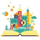 Έννοια φαντασίας, ανοικτό βιβλίο Στοκ φωτογραφία με δικαίωμα ελεύθερης χρήσης