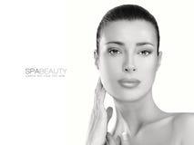 Έννοια φροντίδας δέρματος Γυναίκα SPA Πρόσωπο ομορφιάς Στοκ φωτογραφία με δικαίωμα ελεύθερης χρήσης