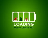 Έννοια φόρτωσης πώλησης Ιστού Χαρούμενα Χριστούγεννας Στοκ εικόνα με δικαίωμα ελεύθερης χρήσης