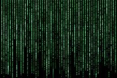 Έννοια χάκερ κώδικες χαρακτήρα υπολογιστών στοκ εικόνα