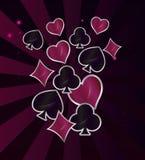 Έννοια χαρτοπαικτικών λεσχών τυχερού παιχνιδιού ελεύθερη απεικόνιση δικαιώματος