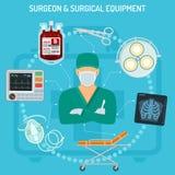 Έννοια χειρούργων γιατρών Στοκ Εικόνα