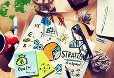 Έννοια χεριών προγραμματισμού οράματος μάρκετινγκ στόχου ανάπτυξης στρατηγικής Στοκ Εικόνα