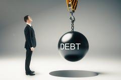 Έννοια χρέους στοκ φωτογραφία