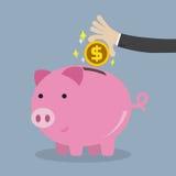 Έννοια χρημάτων αποταμίευσης ελεύθερη απεικόνιση δικαιώματος