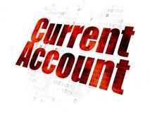 Έννοια χρημάτων: Τρέχων λογαριασμός στο ψηφιακό υπόβαθρο στοκ εικόνα με δικαίωμα ελεύθερης χρήσης