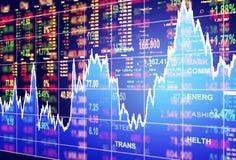 Έννοια χρηματιστηρίου απεικόνιση αποθεμάτων