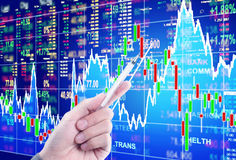 Έννοια χρηματιστηρίου διανυσματική απεικόνιση
