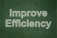Έννοια χρηματοδότησης: Βελτιώστε την αποδοτικότητα στο υπόβαθρο πινάκων κιμωλίας στοκ φωτογραφία με δικαίωμα ελεύθερης χρήσης