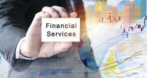 Έννοια χρηματοπιστωτικών υπηρεσιών στοκ φωτογραφία