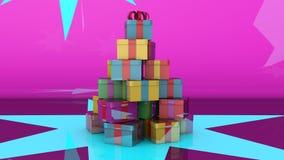 Έννοια χριστουγεννιάτικων δέντρων Στοκ Φωτογραφία