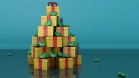 Έννοια χριστουγεννιάτικων δέντρων Ελεύθερη απεικόνιση δικαιώματος
