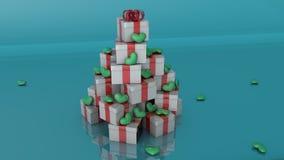 Έννοια χριστουγεννιάτικων δέντρων Διανυσματική απεικόνιση