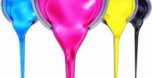 Έννοια χρώματος Cmyk Στοκ φωτογραφίες με δικαίωμα ελεύθερης χρήσης