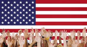 Έννοια χώρας ελευθερίας υπηκοότητας αμερικανικών σημαιών Στοκ εικόνες με δικαίωμα ελεύθερης χρήσης