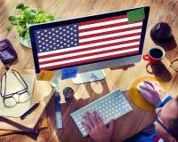 Έννοια χώρας ελευθερίας υπηκοότητας αμερικανικών σημαιών Στοκ φωτογραφίες με δικαίωμα ελεύθερης χρήσης
