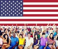 Έννοια χώρας ελευθερίας υπηκοότητας αμερικανικών σημαιών Στοκ Εικόνες