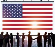 Έννοια χώρας ελευθερίας υπηκοότητας αμερικανικών σημαιών Στοκ εικόνα με δικαίωμα ελεύθερης χρήσης