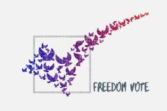 Έννοια ψηφοφορίας ελευθερίας Στοκ φωτογραφίες με δικαίωμα ελεύθερης χρήσης