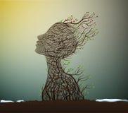 Έννοια ψυχής άνοιξη, διανυσματική απεικόνιση
