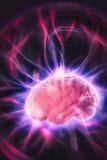 Έννοια δύναμης εγκεφάλου με τις αφηρημένες ελαφριές ακτίνες Στοκ εικόνες με δικαίωμα ελεύθερης χρήσης