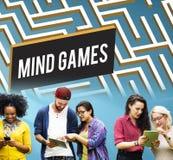 Έννοια λύσης λαβυρίνθου στρατηγικής παιχνιδιών μυαλού Στοκ εικόνες με δικαίωμα ελεύθερης χρήσης
