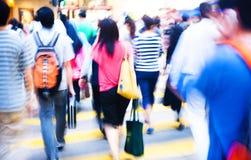 Έννοια ώρας κυκλοφοριακής αιχμής πλήθους αγορών ανθρώπων Στοκ Φωτογραφίες