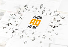 Έννοια διαφημίσεων Ιστού επιτυχίας Στοκ εικόνες με δικαίωμα ελεύθερης χρήσης