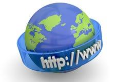 Έννοια Διαδικτύου - τρισδιάστατη Στοκ εικόνα με δικαίωμα ελεύθερης χρήσης