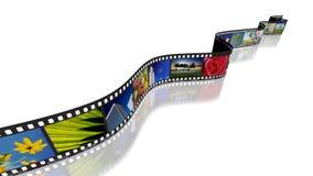 Έννοια 01 λουρίδων ταινιών Στοκ Φωτογραφίες