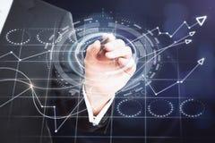 Έννοια Analytics και χρηματοδότησης απεικόνιση αποθεμάτων
