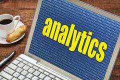 Έννοια Analytics στο lap-top Στοκ εικόνες με δικαίωμα ελεύθερης χρήσης