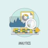 Έννοια Analytics Στοκ Εικόνα