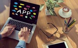 Έννοια Apps Στοκ Εικόνα