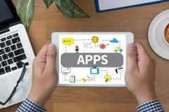 Έννοια Apps Στοκ φωτογραφίες με δικαίωμα ελεύθερης χρήσης