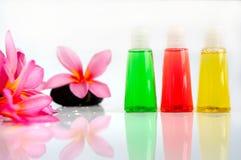 Έννοια Aromatherapy με το φρέσκο λουλούδι frangipani Στοκ Φωτογραφία