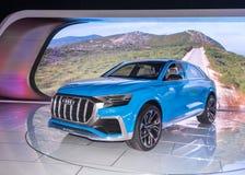 Έννοια Audi ε -ε-tron Q8 Στοκ Φωτογραφίες
