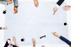 Έννοια 'brainstorming' συζήτησης συνεδρίασης των επιχειρηματιών Στοκ Φωτογραφία