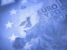 Έννοια Brexit στην ευρο- λεπτομέρεια τραπεζογραμματίων στοκ φωτογραφίες με δικαίωμα ελεύθερης χρήσης