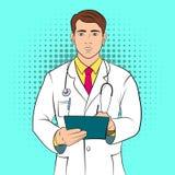 Έννοια comics γιατρών Στοκ Φωτογραφίες