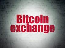 Έννοια Cryptocurrency: Ανταλλαγή Bitcoin στο υπόβαθρο εγγράφου ψηφιακών στοιχείων στοκ φωτογραφία με δικαίωμα ελεύθερης χρήσης