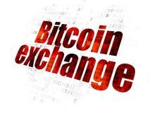 Έννοια Cryptocurrency: Ανταλλαγή Bitcoin στο ψηφιακό υπόβαθρο στοκ εικόνες
