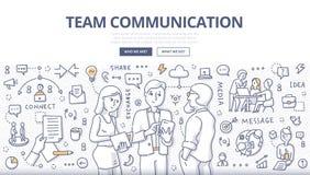 Έννοια Doodle επικοινωνίας ομάδας