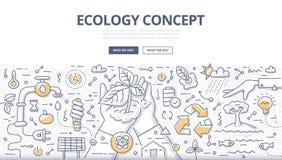 Έννοια Doodle οικολογίας διανυσματική απεικόνιση
