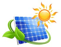 Έννοια eco ηλιακής ενέργειας Στοκ φωτογραφία με δικαίωμα ελεύθερης χρήσης