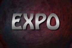 Έννοια EXPO στοκ φωτογραφία