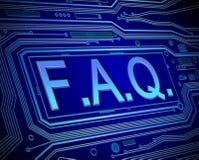 Έννοια FAQ Στοκ φωτογραφίες με δικαίωμα ελεύθερης χρήσης