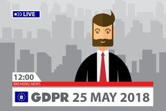 Έννοια GDPR Γενικός κανονισμός προστασίας δεδομένων Νέος νόμος της ΕΕ από το 2018 Στοκ Φωτογραφία