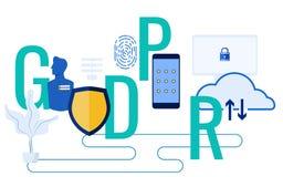 Έννοια GDPR Ο γενικός κανονισμός προστασίας δεδομένων για προστατεύει τα προσωπικά στοιχεία και τη μυστικότητα Στοκ φωτογραφία με δικαίωμα ελεύθερης χρήσης